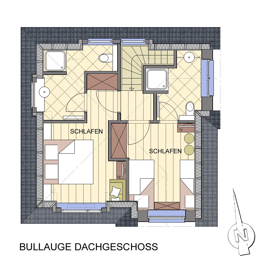 Dachgeschoss Gästehaus Treibholz
